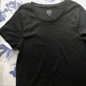 J. Crew Perfect Fit Black T-shirt XXL
